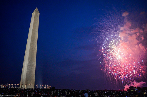 Fireworks at National Monument