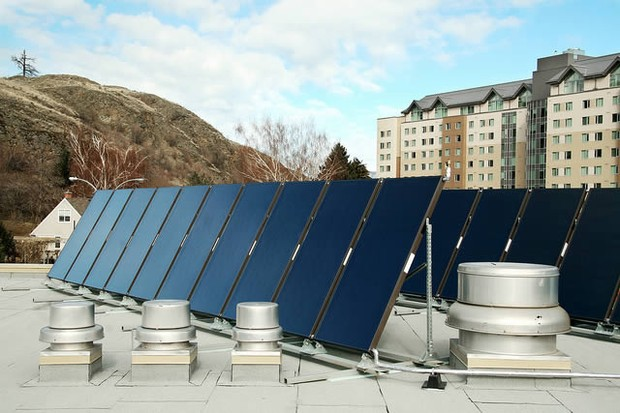 Solar panels atop the Campus Activity Centre